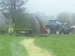 cutting silage in bad weather